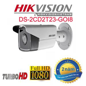 Camera IP thân trụ HIKVISION DS - 2CD2T23GOi8 2.0MP