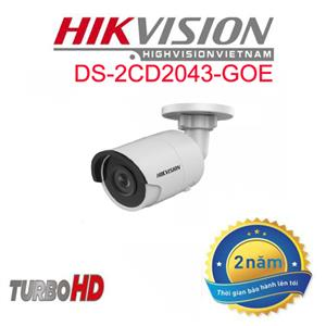 DS-2CD2043GO-I Camera IP Thân trụ HIkvision 4.0MP